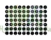 Vintage Black Typewriter Keys Printable Alphabet Gatsby Era Roaring 20s Era Clip Art Punctuation Numbers Shift Key Shift Lock Back Space
