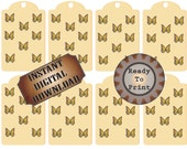 Butterfly Gift Tags/Hang Tags ~Digital Download Printable Collage Sheet