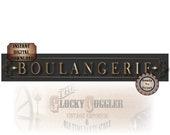 BOULANGERIE Banner Printable PDF ~ 12 X 72 Inch French Bread Shop Bakery Sign ~ Charcoal & Gold Montmarte Paris Art Nouveau Style Digital