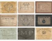Speakeasy Cards Printable Wedding Favors ~ Junk Journal Embellisments ~ 9 Roaring 20s Members Only Prohibition Showgirls Gentlemen's Club
