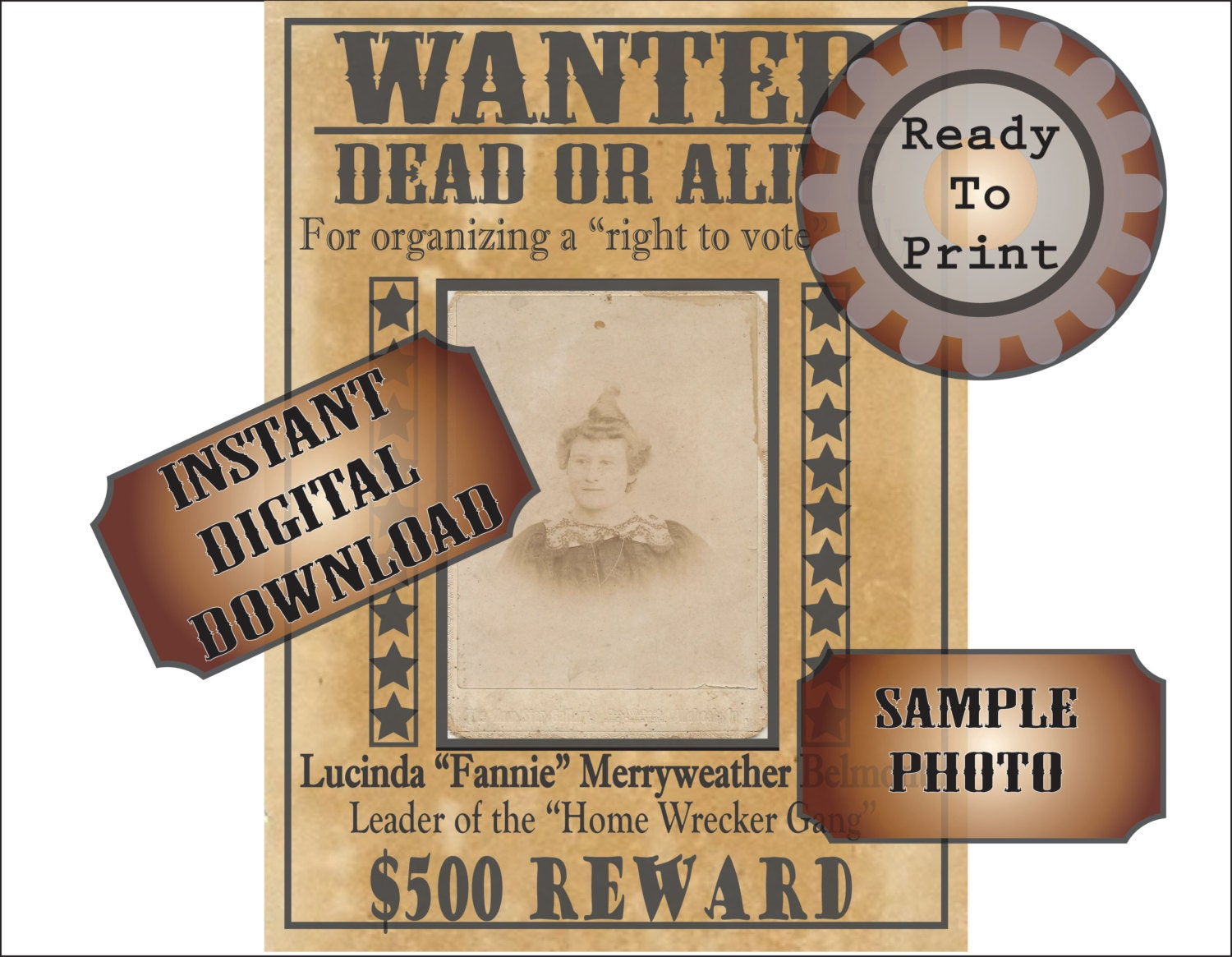 It is a photo of Epic Printable Wanted Poster