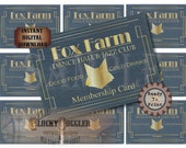 Speakeasy Table Card & Place Cards Set ~ JPG Digital Files~ Fox Farm Dance Hall Prohibition Roaring 20s Gatsby Party Wedding ~ Member Name