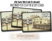Personalized Street Sign SAVE THE DATE Printable jpg ~ Your Custom Message Added ~ Prohibition Speakeasy Roaring 20s Wedding Announcement