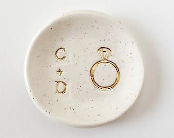 Initials Ring Dish - Wedding Ring Dish - Personalized Gifts - Custom Ring Dish - Wedding Gifts - Personalized Ring Holder
