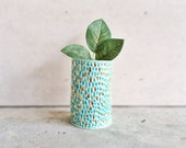 Confetti Gold Vessel - Ceramic Gold Vase - Gold Vase - Mint Ceramics - Gold Housewares - Gold Decor - Mint and Gold