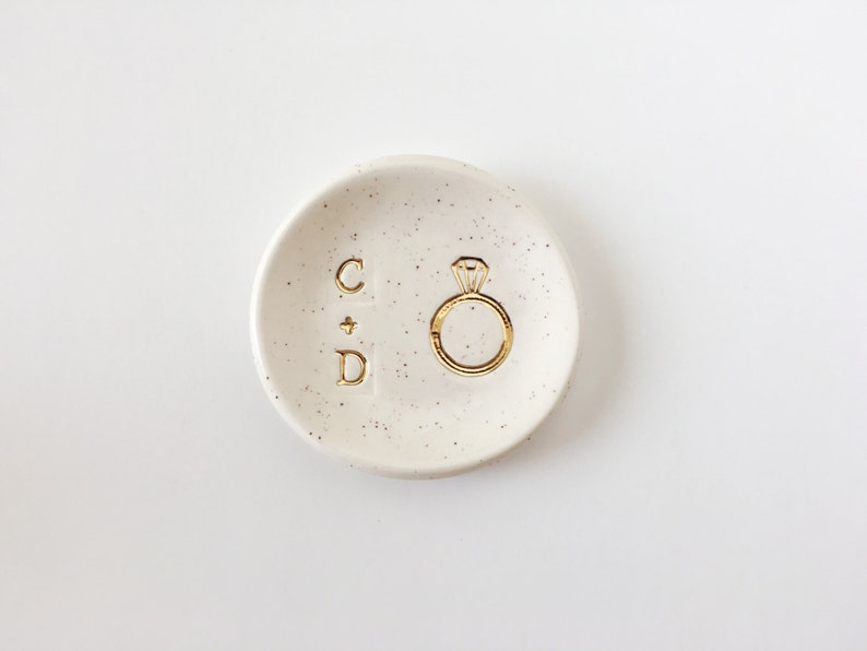 Initials Ring Dish  Wedding Ring Dish  Personalized Gifts  image 0