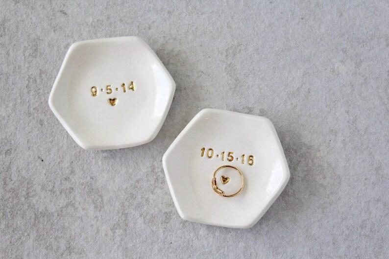 Date Ring Dish  Wedding Ring Dish  Graduation Gifts  image 0