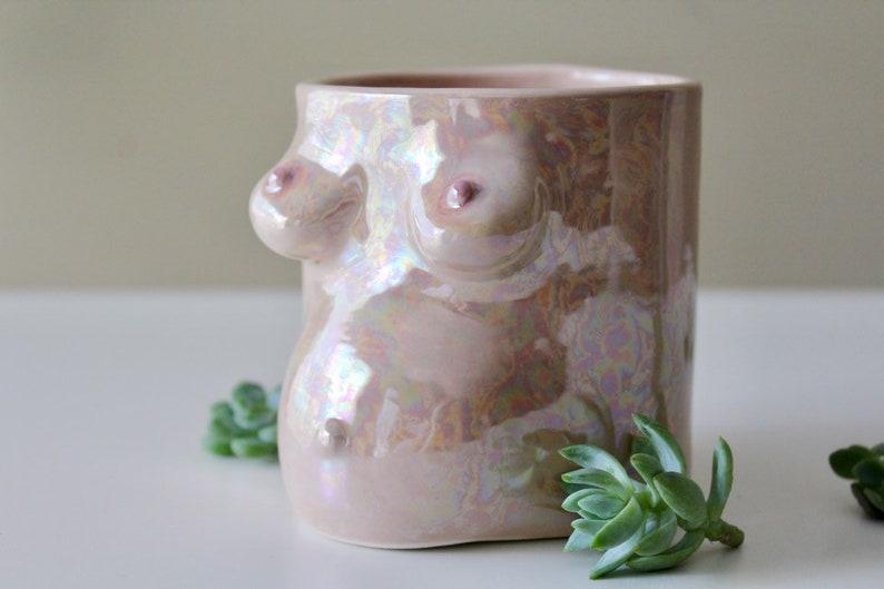 Pregnant Boob Planter Vase  Fair  Indoor Planter  Flower image 0