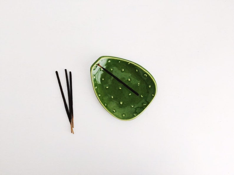 Cactus Incense Holder  Plant Lady Gifts image 0