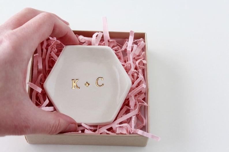 Monogram Ring Dish  Initial Ring Dish  Monogram Gifts  image 0