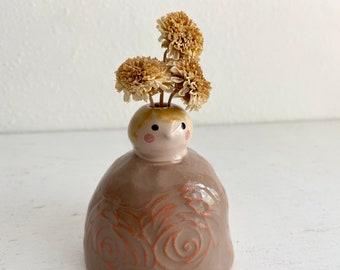 Peg Doll Bud Vase
