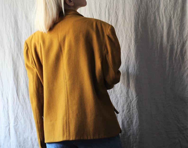 3fb5f297bb8 80s Cacharel jacket / mustard wool jacket / vintage winter | Etsy
