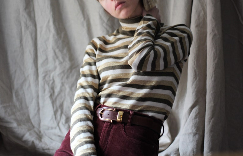 90s Dolce and Gabbana turtleneck   D G striped sweater   designer  turtleneck sweater   womens turtleneck   Dolce Gabbana sweater   S   M 1ae5ac374f166
