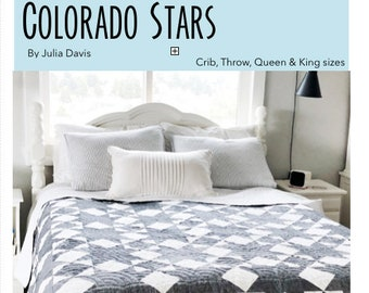 Colorado Stars Quilt Pattern (PDF download) - 4 different size options!