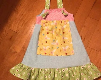 Apron knot Dress with removable apron