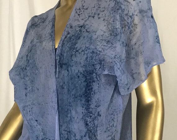 Blue Silk Kimono Jacket