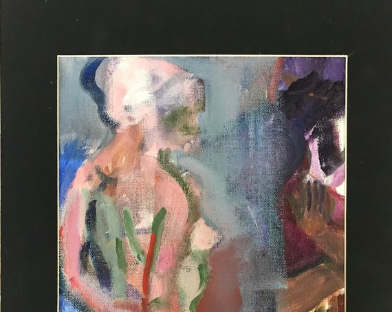 Original Figure Study, abstract oil