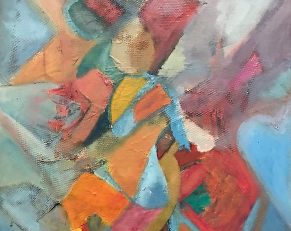 Abstract Oil Painting, cubism, bright colors