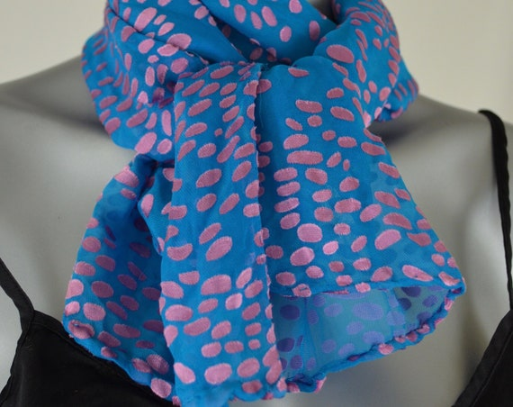 Holiday scarves, silk rayon blend, blue and rose gold