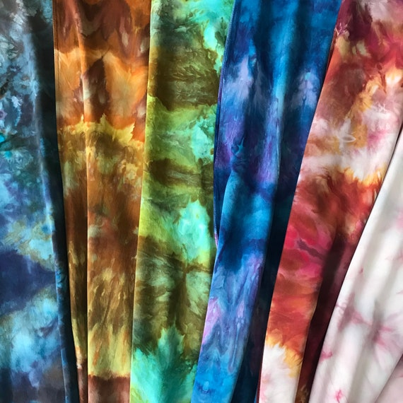 Long Rayon Scarf, casual, Shibori dyed