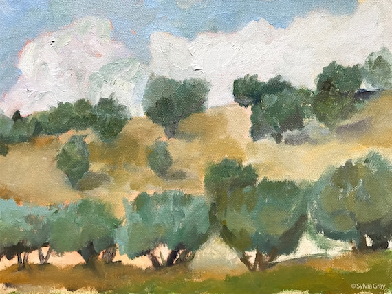 Olive Grove jpg, Italy, digital download, original landscape, oil painting jpg, artwork jpg, painting jpg, wall art