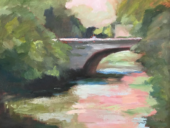 Bridge jpg, digital download, landscape, from original oil painting jpg, artwork jpg, painting jpg, wall art