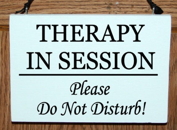 therapy in session please do not disturb wood door hanger sign etsy