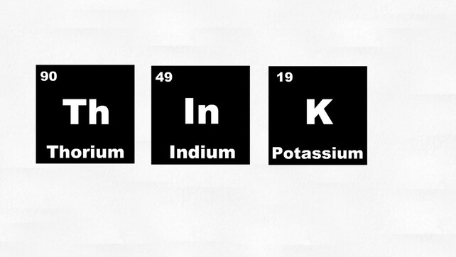 Think Periodic Table Vinyl Wall Decal Etsy