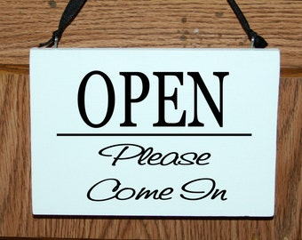 2 sided open/closed door hanging sign - business