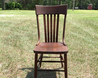 Antique Wooden Chairs >> Wood Chair Etsy