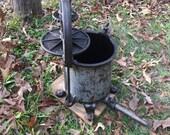 Antique Cast Iron, enterprises mfg., sausage stuffer, detachable spout, lard press, fruit press, vintage tool, kitchen tool, iron machine
