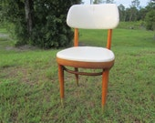 Vintage chair, thonet,Danish modern chair,mid century chair,wood chair,white,