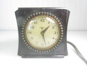 Vintage Electric Clock, GE Telechron, Bakelite Clock, Household Timer