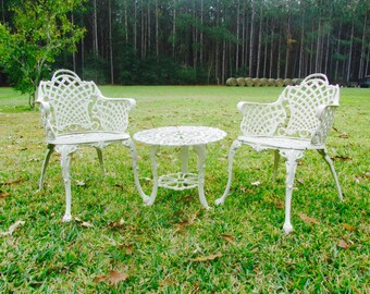 Garden Furniture,Patio Set,table,metal Chair, Aluminum Chair And Table,outdoor  Furniture,French Decor,Paris Chic,
