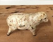 Vintage cast iron toy, Antique iron sheep bank, Iron animal, cast iron bank, collectible toy, western, rustic toy, farmhouse decor,