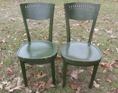 Vintage Chairs, Furniture, Wood Chair, Bent Wood Chair, farmhouse kitchen chair, Dinning Chair, Ice Cream Parlor Chairs
