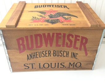 Budweiser Crate Etsy