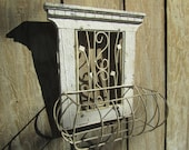 French Nordic decor,Vintage wire basket,French window basket, wire basket,wire planter,metal basket,flower basket,
