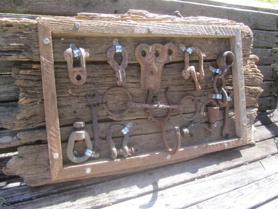 Farmhouse Antique Tool Display Vintage Tool Barn Wood Tool Etsy
