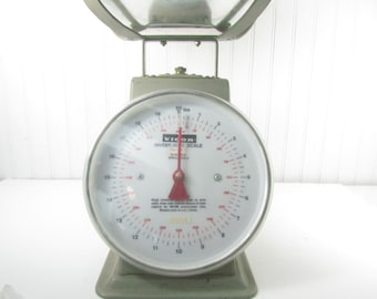Vigor Investment Scale, Jewelry Casting Scale, Vintage Scale, Metal Scale, Family Scale, Gray, Vintage Kitchen, Retro Kitchen