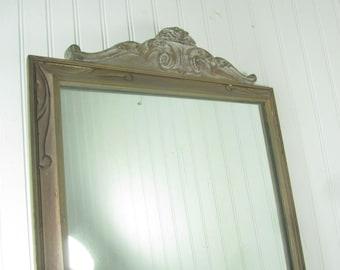 Antique Mirror, vintage mirror, Antique Frame, Wood Frame Mirror, Ornate Mirror,