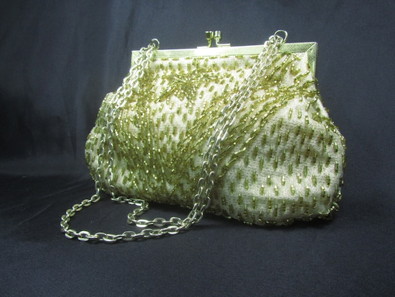 Vintage  purse, beaded purse, mesh purse, purse, b
