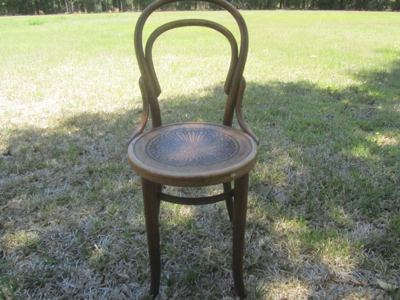 J J Kohn Chair Wood Chair Antique Chair Ice Cream Parlor Etsy