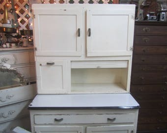Vintage Hoosier Cabinet , Kitchen Cabinets, White Cabinet, Kitchen  Furniture, Hutch, China Cabinet, Bakers Cabinet ,