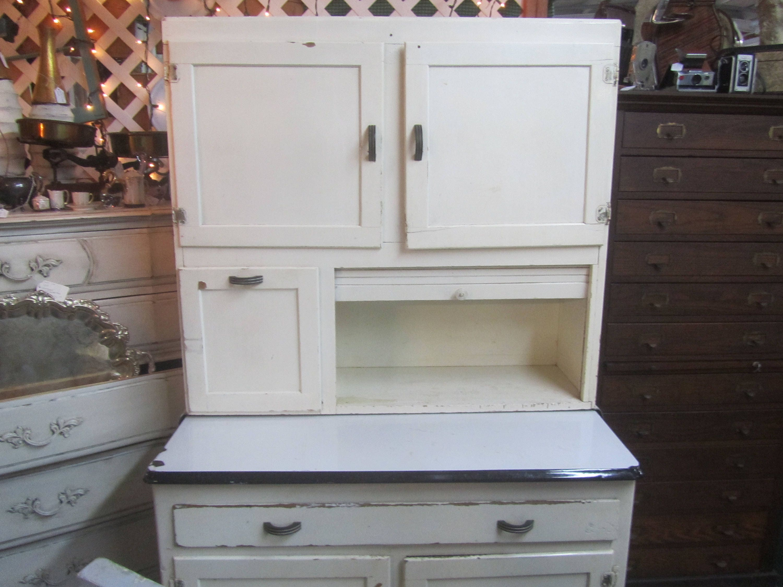 Vintage Hoosier Cabinet Kitchen Cabinets White Cabinet