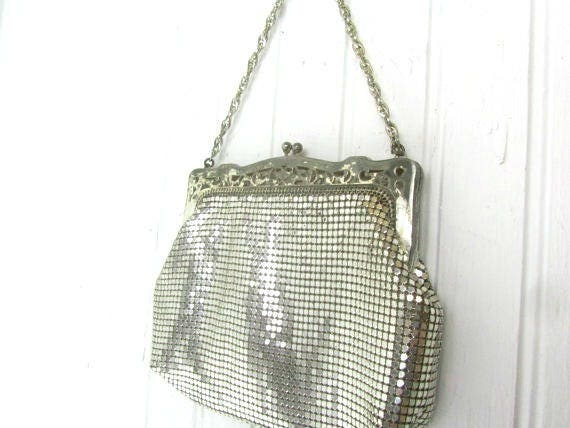 Vintage Whiting and Davis Purse, Vintage Silver Me