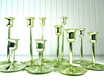 Brass Candle Sticks, Candle Stick Set, Metal candle holders, Candle Holder, Brass Candle Holders, Gift, vintage brass, wedding decor