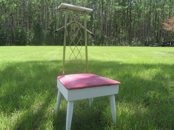 Urban Chic Decor-  White Jewelry Holder Desk Organizer Painted Valet Great Gift Idea Shabby Vintage Valet Shabby Beach Decor