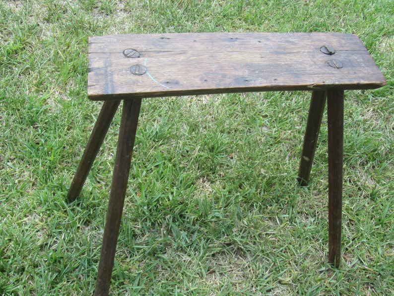 Ancien Banc Damure équestre Antique Bois Table Dappoint Etsy
