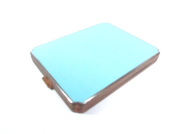 Vintage Turquoise Compact, Compact, Collectible ,